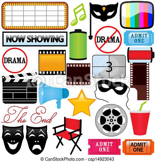 Drama, Unterhaltung, Film, Film. - csp14923043
