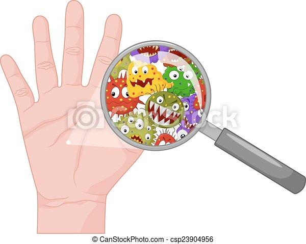 Dreckige Hand. - csp23904956