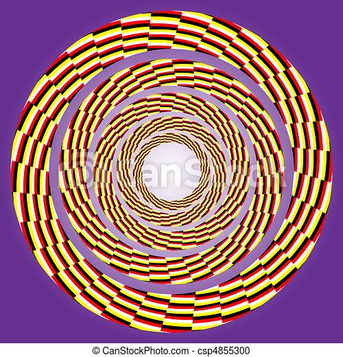 drehen, exzentrisch, circle. - csp4855300