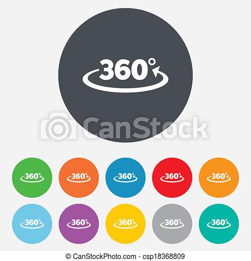 Drehen Sie 360 Grad Zeichen. Geometrie-Symbol - csp18368809
