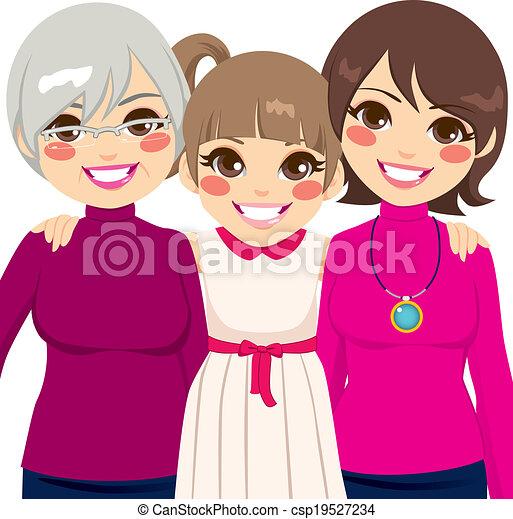 Drei Generationen Familienfrauen. - csp19527234