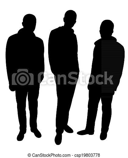 Drei Männer Silhouette. - csp19803778