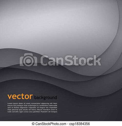 Dunkel grauer, eleganter Geschäfts Hintergrund. - csp18384356