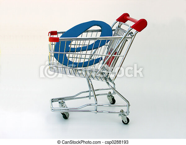 E-Commerce Einkaufswagen (Aussicht) - csp0288193