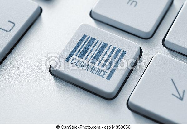 E-Commerce-Knopf - csp14353656