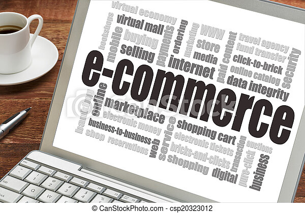 E-Commerce-Wort Wolke - csp20323012