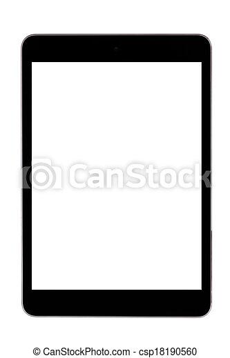 edv, tablette, leer - csp18190560