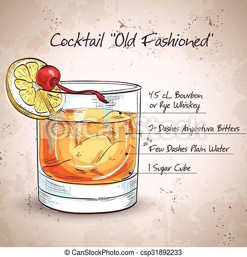 Ein altmodischer Cocktail. - csp31892233