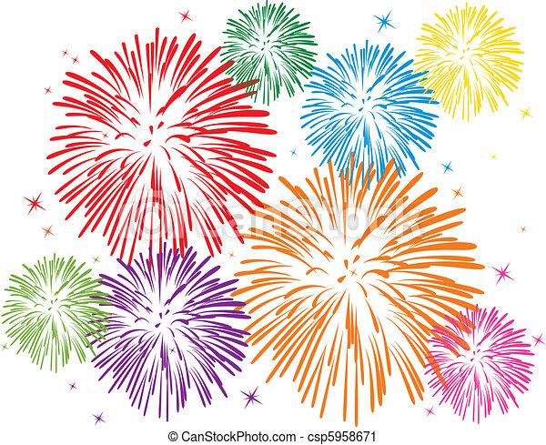 Ein buntes Feuerwerk - csp5958671