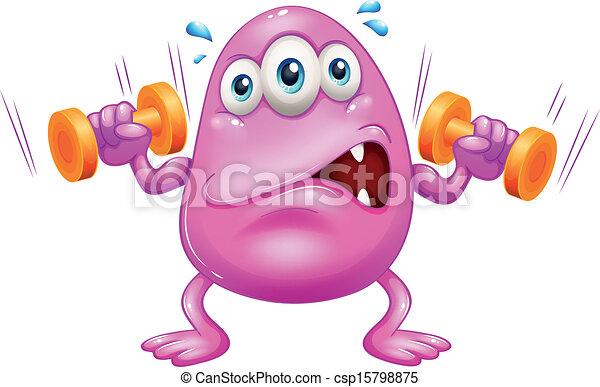 Ein fettes rosa Monster. - csp15798875