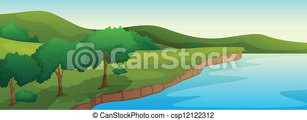 Ein Fluss - csp12122312