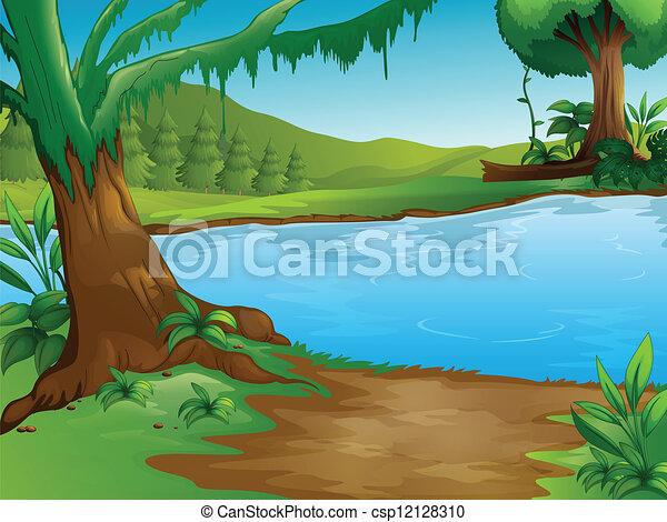 Ein Fluss - csp12128310