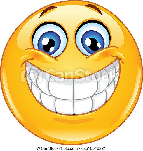 Ein großes Lächeln-Emoticon - csp10548221