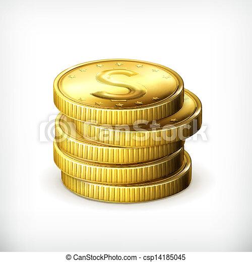 Ein Haufen Münzen - csp14185045