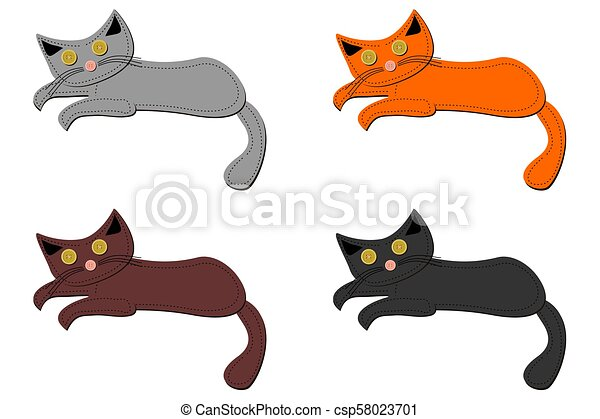 Ein Haufen Schrottkatzen. - csp58023701