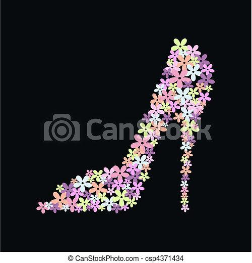 Ein High-Heel-Schuh - csp4371434
