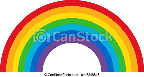 Ein klassischer Regenbogen - csp6348816
