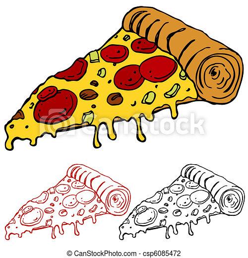 Ein leckeres Stück Pizza - csp6085472
