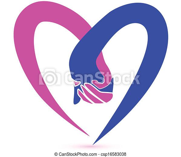 Ein paar Händchen-Logo-Vektor. - csp16583038