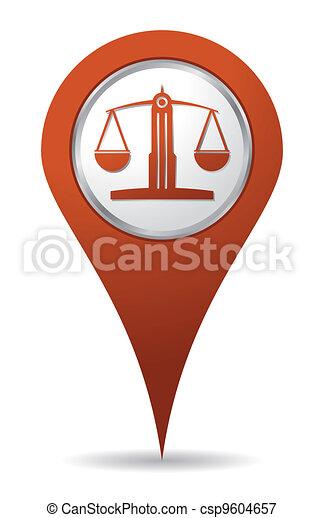 Ein Rechtsanwälte-Symbol. - csp9604657