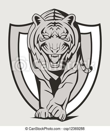 Ein Tiger-Emblem - csp12369288