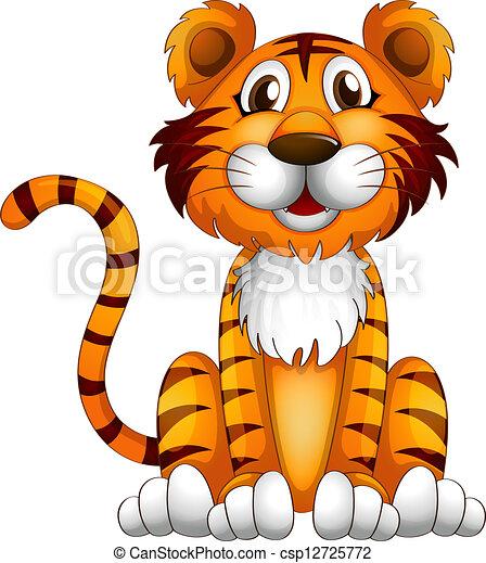 Ein Tiger sitzt - csp12725772