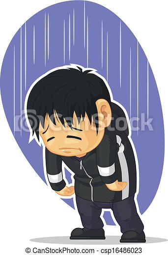Ein trauriger Junge - csp16486023