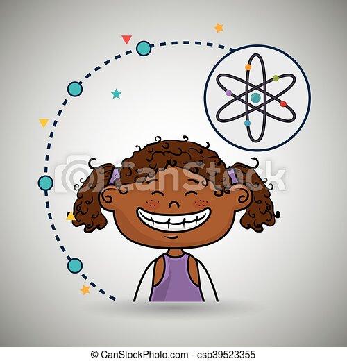 Eine Comic-Atom-Ikone. - csp39523355