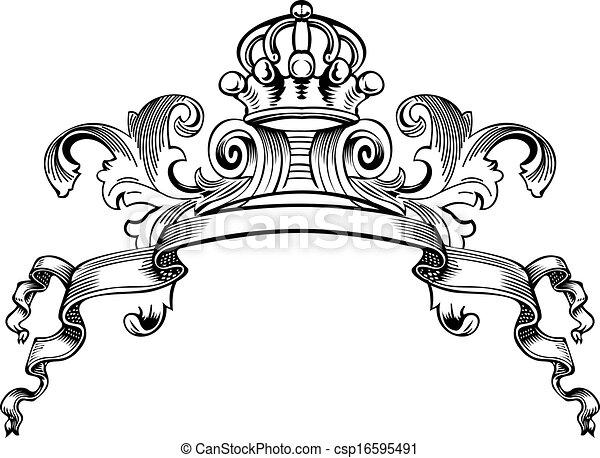 Eine Farbe königlicher krönender Kurven - csp16595491