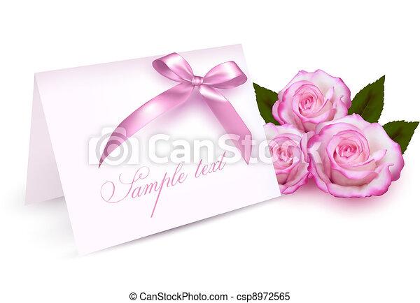Eine Greeting-Karte mit Rosen - csp8972565