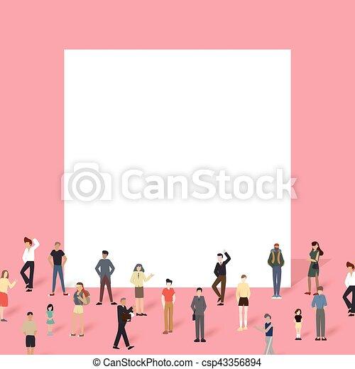Eine Gruppe von Leuten mit großem Vorstand. - csp43356894
