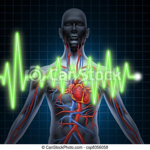 EKG und EKG Herz-Kreislaufsystem - csp8356058