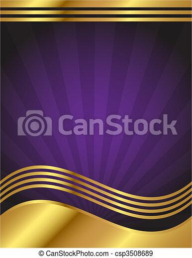 Elegant lila und goldener Hintergrund - csp3508689