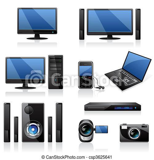 Computer und Elektronik-Icons - csp3625641