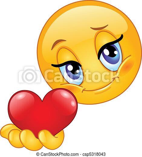 Emoticon gibt Herz - csp5318043