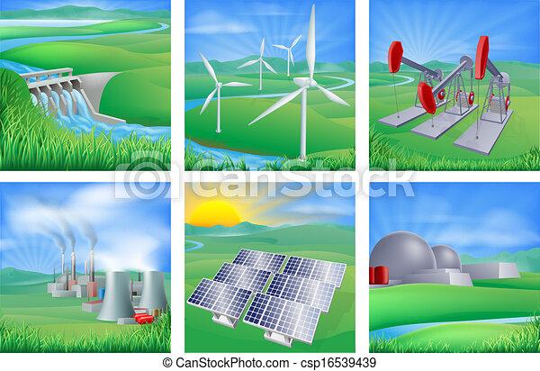 Energie und Energiequellen - csp16539439