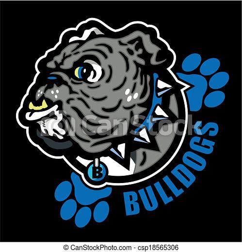 Englische Bulldogge mit Pfotenabzügen. - csp18565306