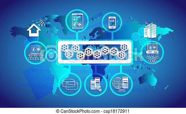 Enterprise Service Busverbindung. - csp18172911