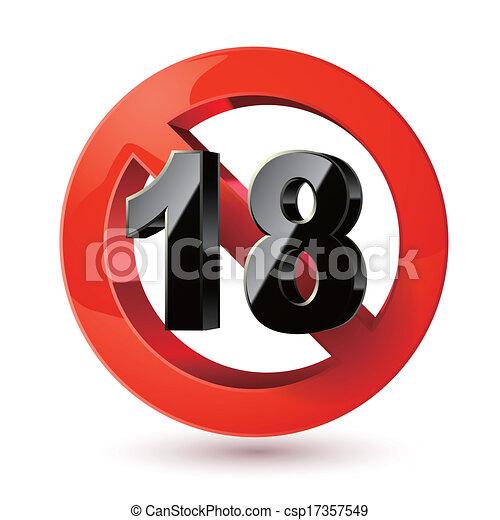 Erwachsene nur Inhaltszeichen. XXX Sticker. Age Limit Icon. Prohibitionszeichen. Unter 18 Zeichen - csp17357549