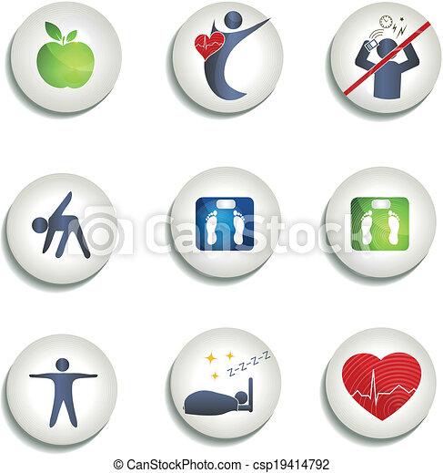 essende, heiligenbilder, gesunde, gewicht, andere, normal - csp19414792