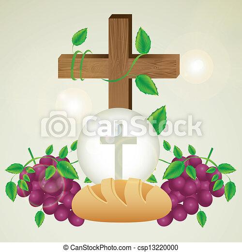 Eucharistisches Sakrament - csp13220000