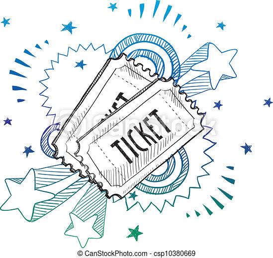 Event Aufregung Ticket Sketch - csp10380669