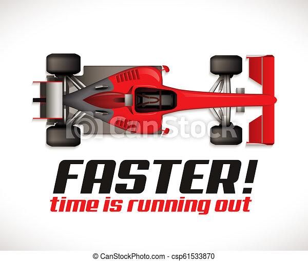 F1 - Formel ein Wettbewerb - Rennwagen als Laufzeitkonzept. - csp61533870