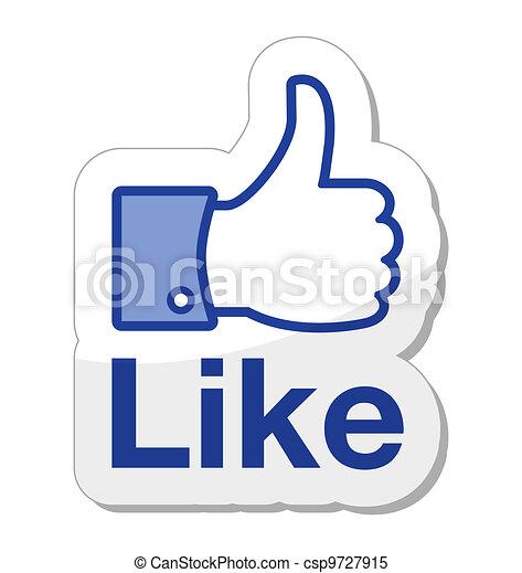 Facebook wie ein Knopf - csp9727915