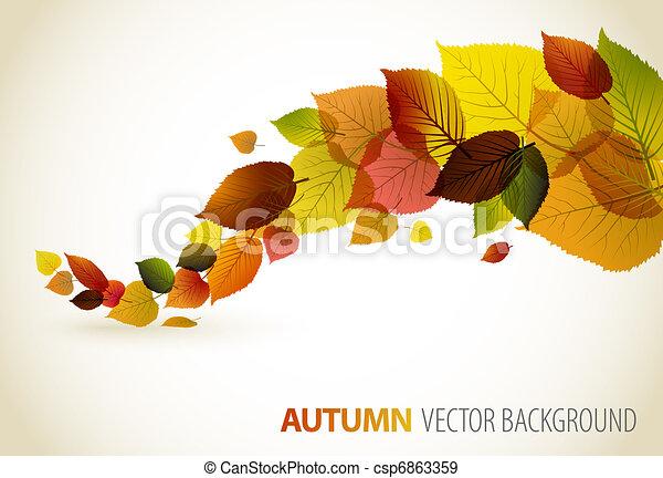 Fallen Sie abstrakter Blumen Hintergrund - csp6863359