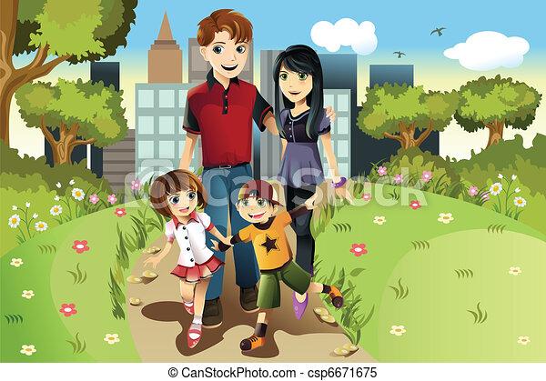 Familie im Park. - csp6671675