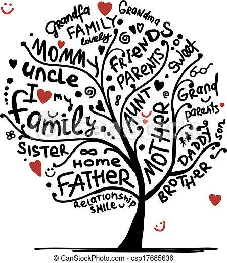 Familienbaumskizze für Ihr Design. - csp17685636