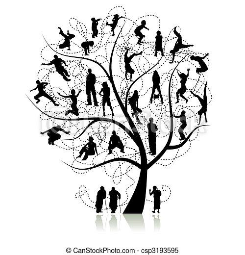 Familienstammbaum, Verwandte - csp3193595
