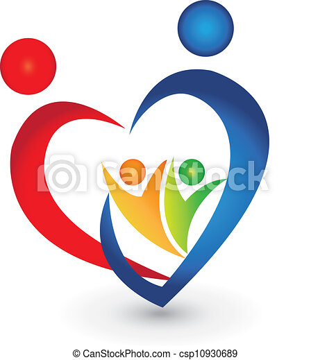 Familienvereinigung in Herzform - csp10930689