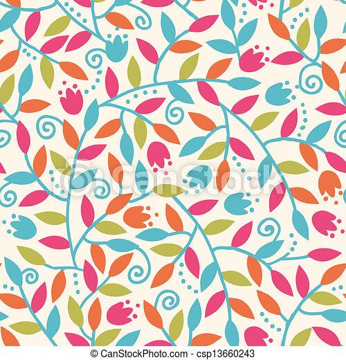 Farbige Äste nahtloser Muster Hintergrund - csp13660243